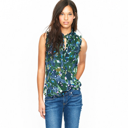Natasha top in gardenshade floral