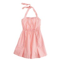 Girls' apron dress in sushi print