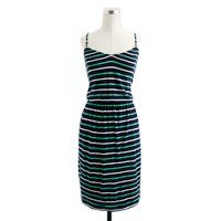 Shoreline-stripe dress in kelly green