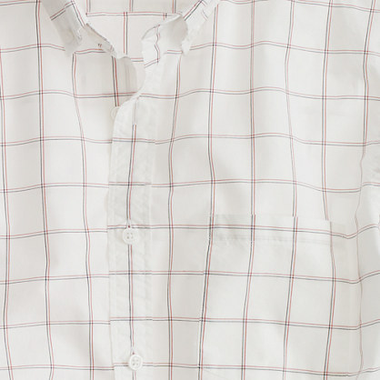 Secret Wash shirt in open tattersall