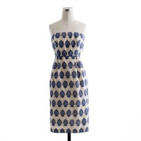 Filigree-embroidered strapless beach dress