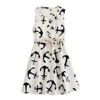 Girls' dizzy anchors sateen dress