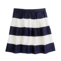 Pleated mini in awning stripe