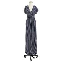 Kimono-sleeve maxidress in stripe