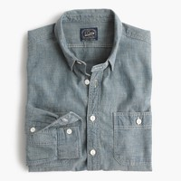 Selvedge Japanese chambray utility shirt
