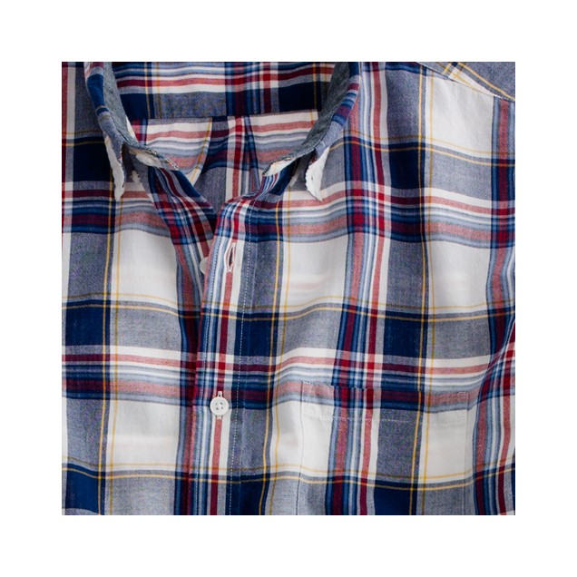 Tall Indian cotton shirt in Kendrick plaid