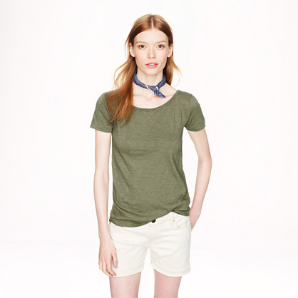 Vintage cotton cap-sleeve T-shirt