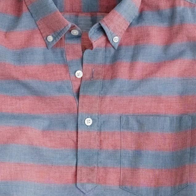 Short-sleeve popover in stripe