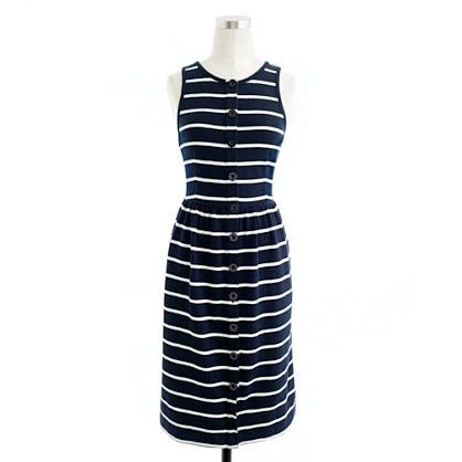 Stripe button-front dress