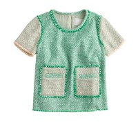 Collection glimmer tweed top