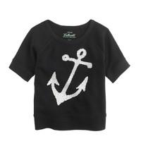 Girls' sequin anchor sweatshirt