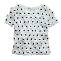 Collection embroidered daisy top