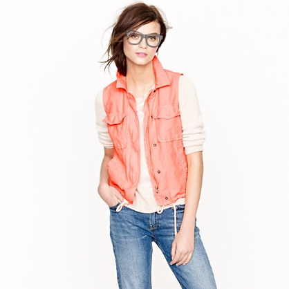 Garment-dyed vest