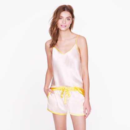 Silk contrast short