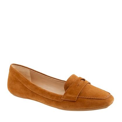 Lexington suede penny loafers