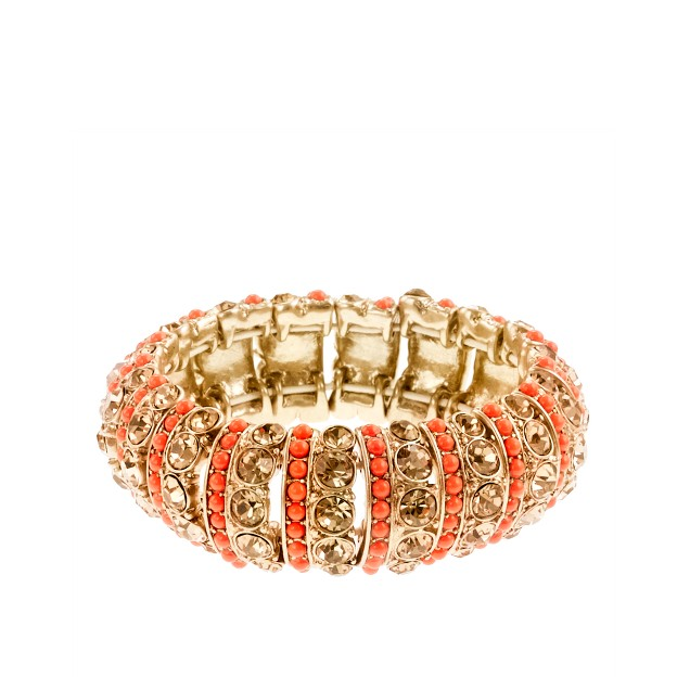Stripe crystal stretch bracelet
