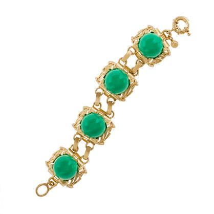 Golden cabochon bracelet