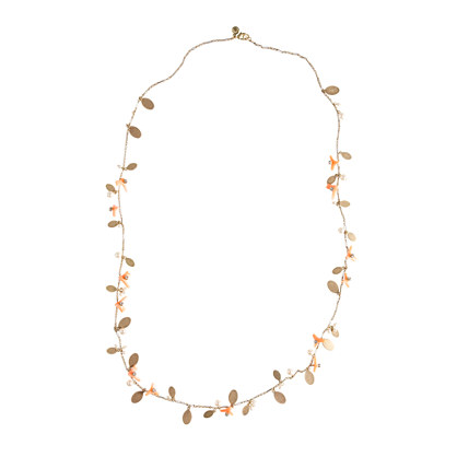 Coral bits necklace