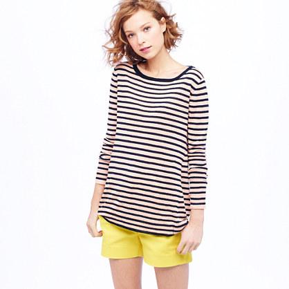 Linen swing sweater in stripe