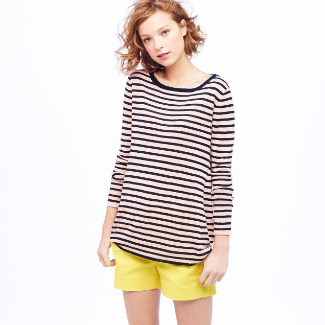 Linen swing sweater in stripe
