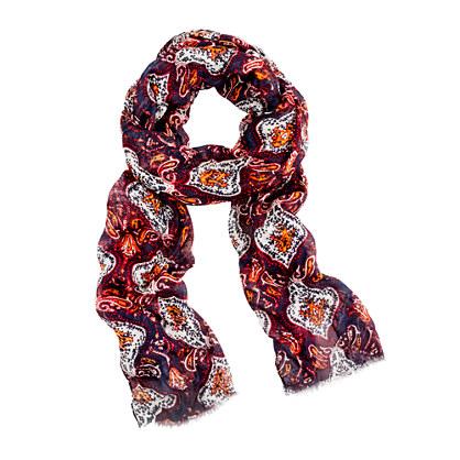 Modal®-silk fish-print scarf