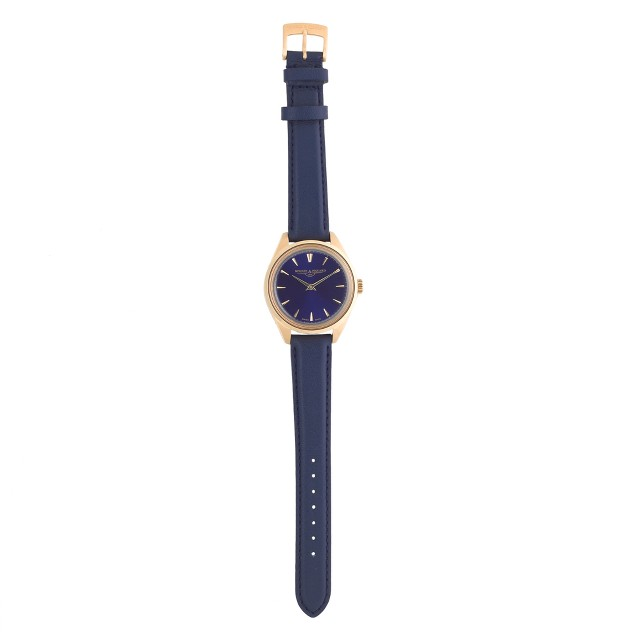 Mougin & Piquard™ for J.Crew Minuit watch in navy