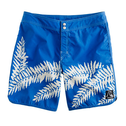 Quiksilver® for J.Crew scallop board short in original aloha print
