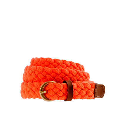 Braided rope belt