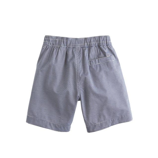 Boys' tab swim short in blue stripe
