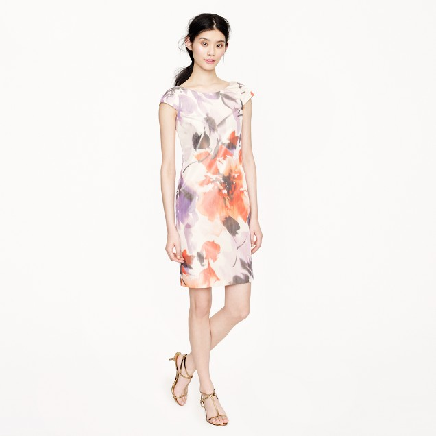 Collection Greta dress in floral taffeta