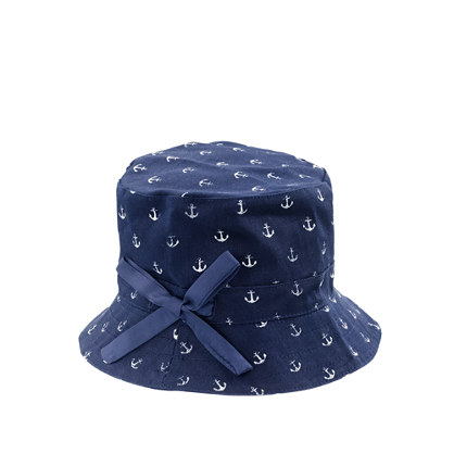 Girls' bucket hat in mini anchor