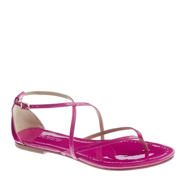 Audra patent sandals