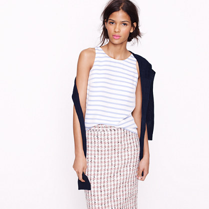 Stripe silk cami