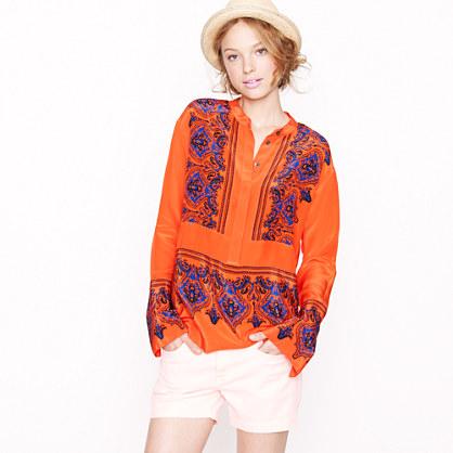 Silk dervish paisley tunic