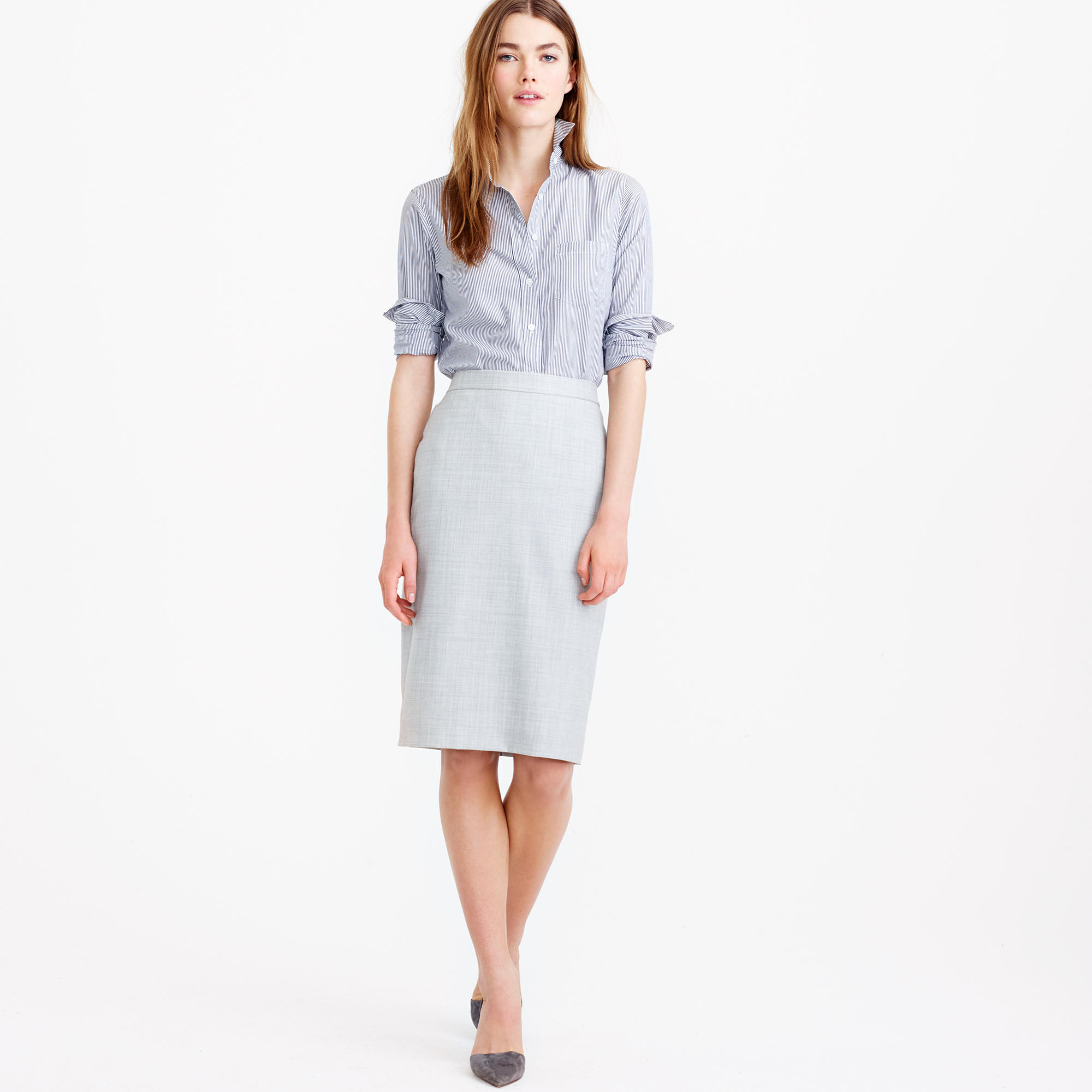 Petite Pencil Skirt In Super 120S Wool : Women's Suit Skirts | J.Crew