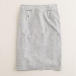 Petite pencil skirt in Super 120s wool