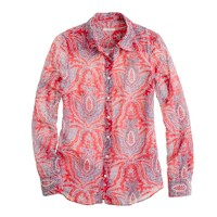 Cotton-silk perfect shirt in raj paisley