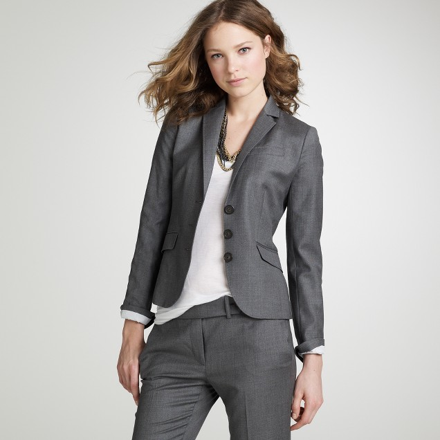 Three-button jacket in Super 120s