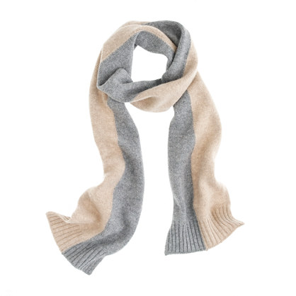 Girls' cashmere colorblock sparkle scarf