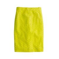 No. 2 pencil skirt in circle eyelet
