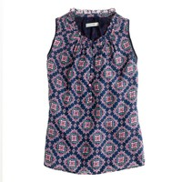 Sera top in medallion paisley