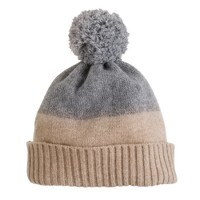 Girls' cashmere colorblock sparkle hat