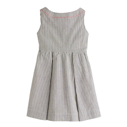 Girls' seersucker dress