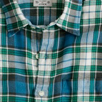 Summerweight twill shirt in seascape plaid