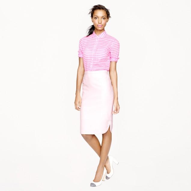Collection tuxedo pencil skirt