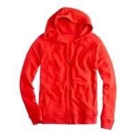 Summerlight terry zip-front hoodie
