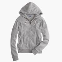 Slim brushed fleece zip hoodie