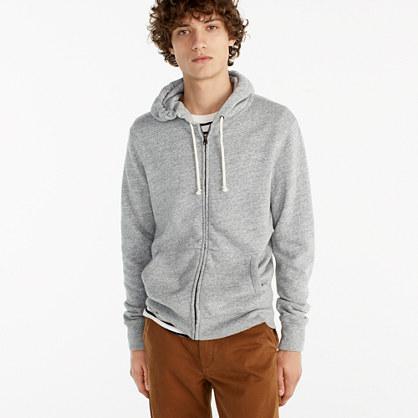 Brushed fleece zip hoodie