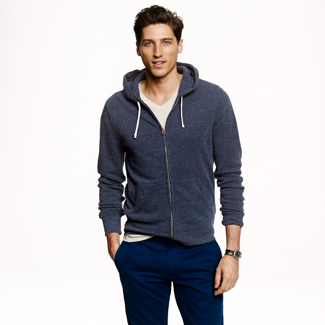 Brushed fleece zip hoodie
