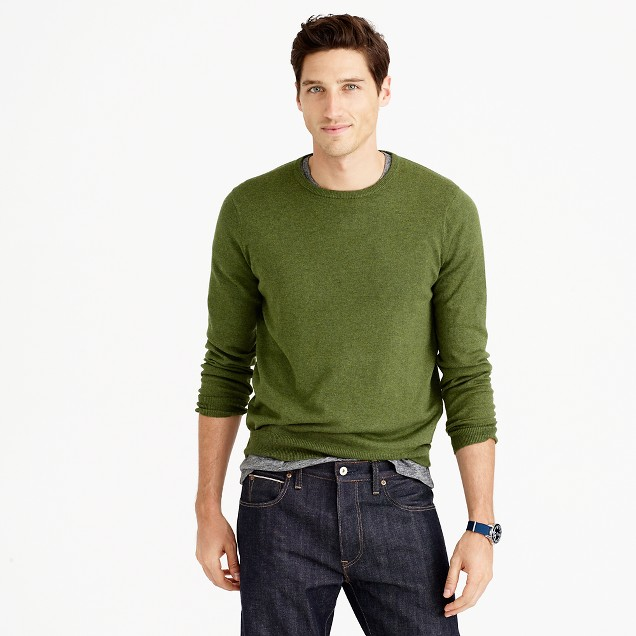 Slim cotton-cashmere crewneck sweater